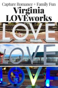 Capture memories at more than 150 Virginia LOVEworks, perfect for a happy photo, whether you're celebrating a romantic moment, group outing, or family fun.