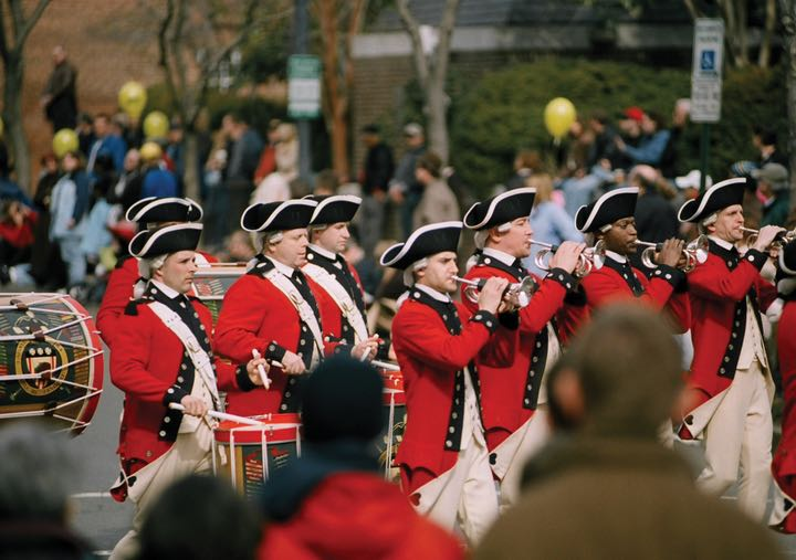 The George Washington Birthday Parade is a popular way to celebrate President's Day weekend. Photo credit: Tisara Photography