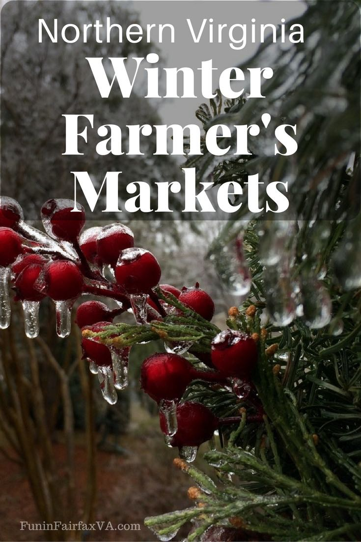 Shop Northern Virginia winter farmers markets for local goods and specialty items.
