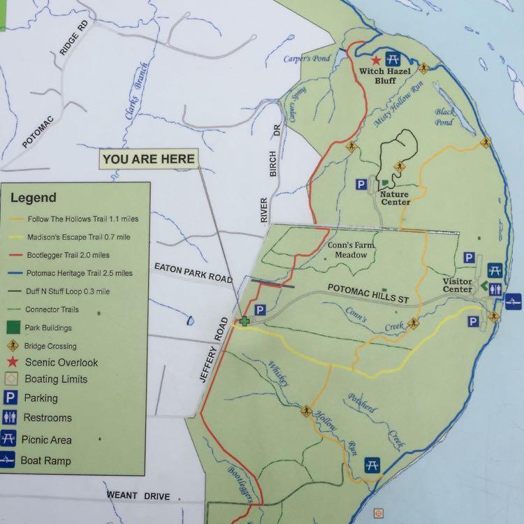 Riverbend Regional Park map close-up