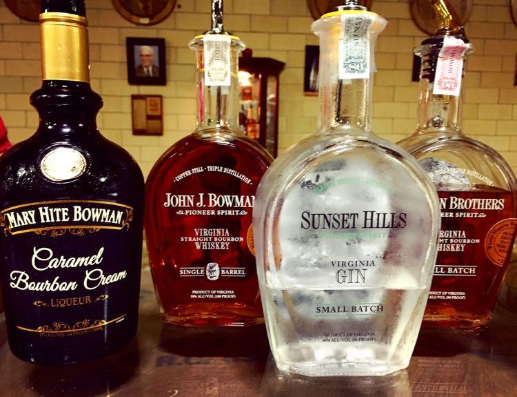 Bowman Distillery spirits Fredericksburg Virginia