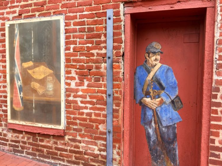 Civil War street art Fredericksburg Virginia
