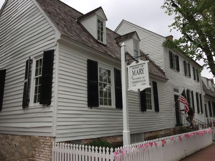 Mary Washington home Fredericksburg Virginia