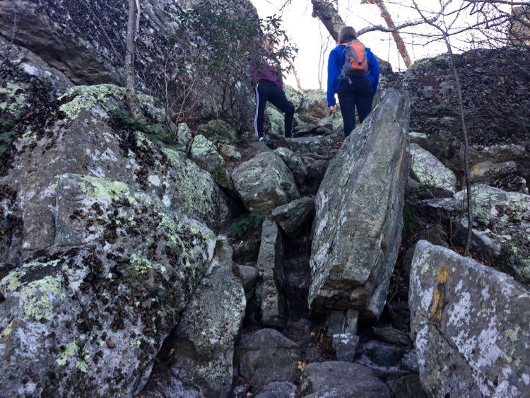 Second rock scramble Tibbet Knob Trail Virginia