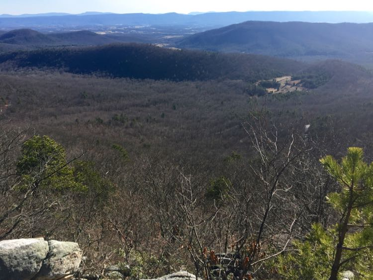 Winter view from Tibbet Knob Trail