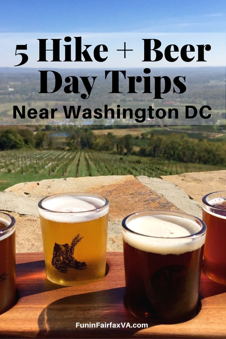 These 5 hike and beer day trips pair the great outdoors with Virginia's thriving craft brewery scene, exploring trails and taprooms near Washington DC.
