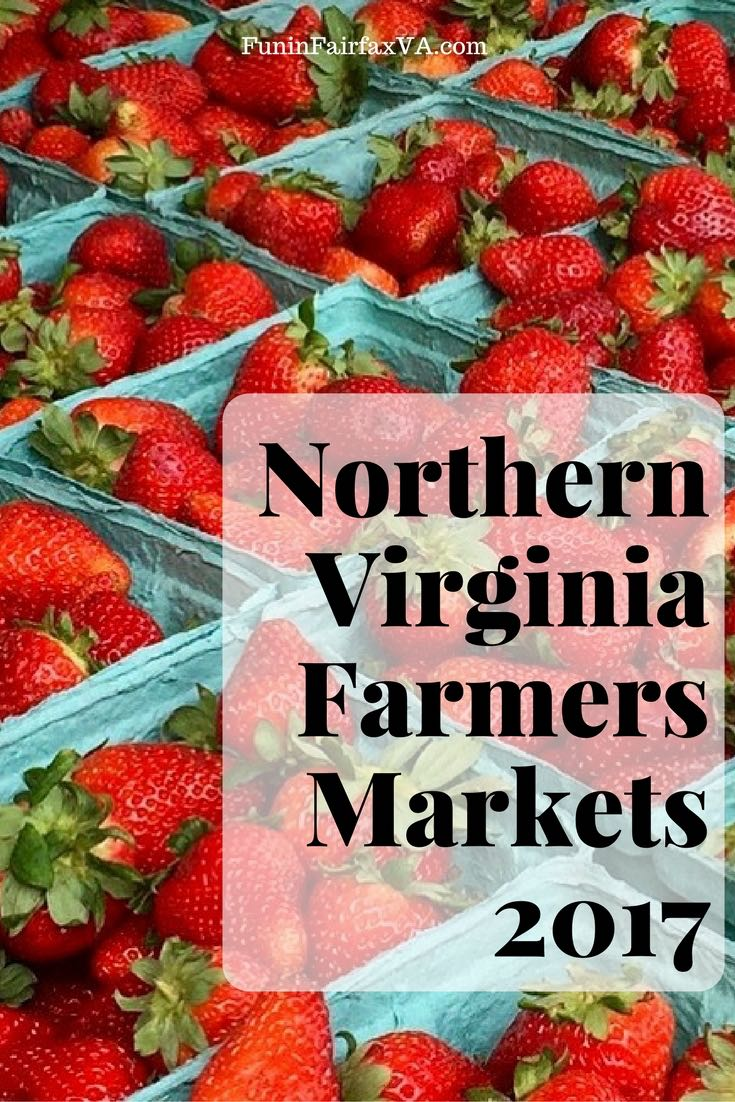 Bookmark this expanded round-up of Northern Virginia Farmers Markets 2017, listed by county, city, and weekday, for fresh and local shopping all week long.
