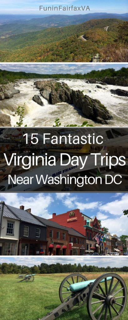 These 15 fantastic Virginia day trips near Washington DC offer fun and interesting places to visit, whether you've got a few hours or a full day to explore.
