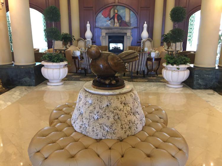 """Fat bird"" in the lobby at Nemacolin Resort, Laurel Highlands PA"