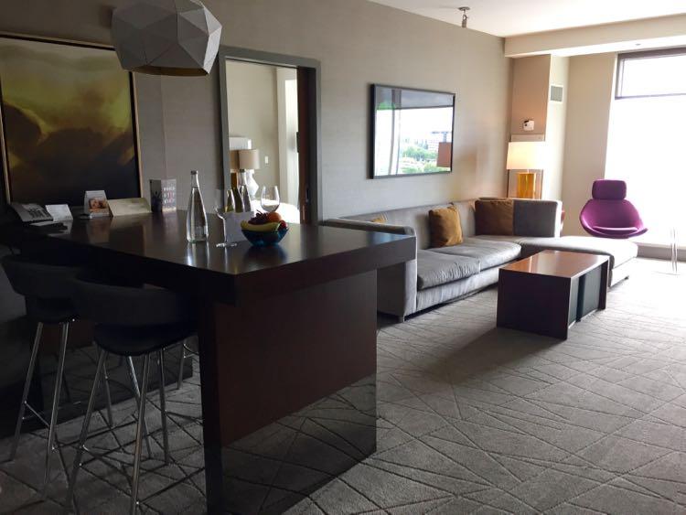 Hyatt Tysons Corner suite living area