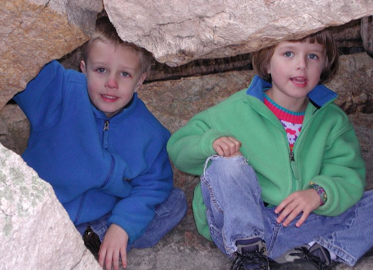 Kids cave on Sugarloaf Mountain summit