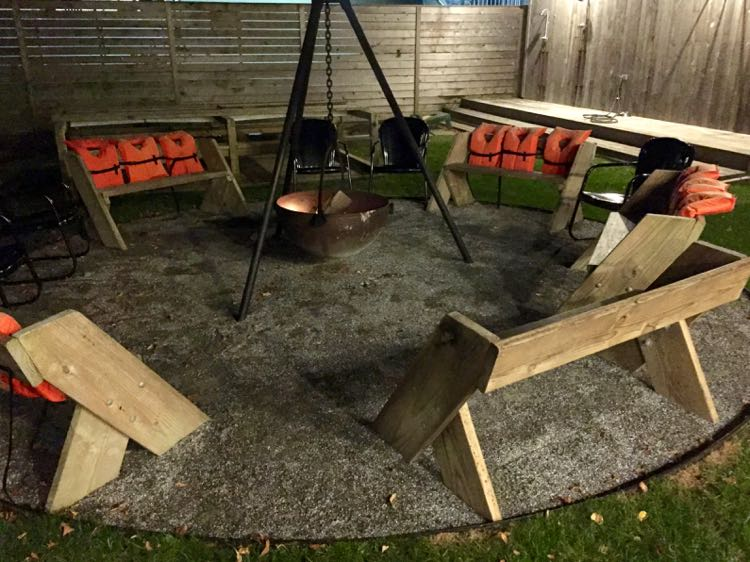 Dogfish Inn fire pit circle