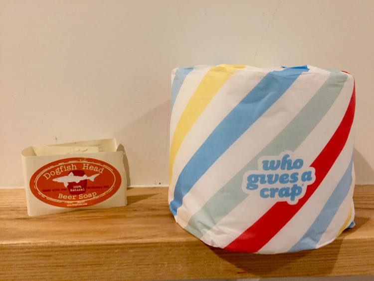 Dogfish Inn soap and funny t.p.