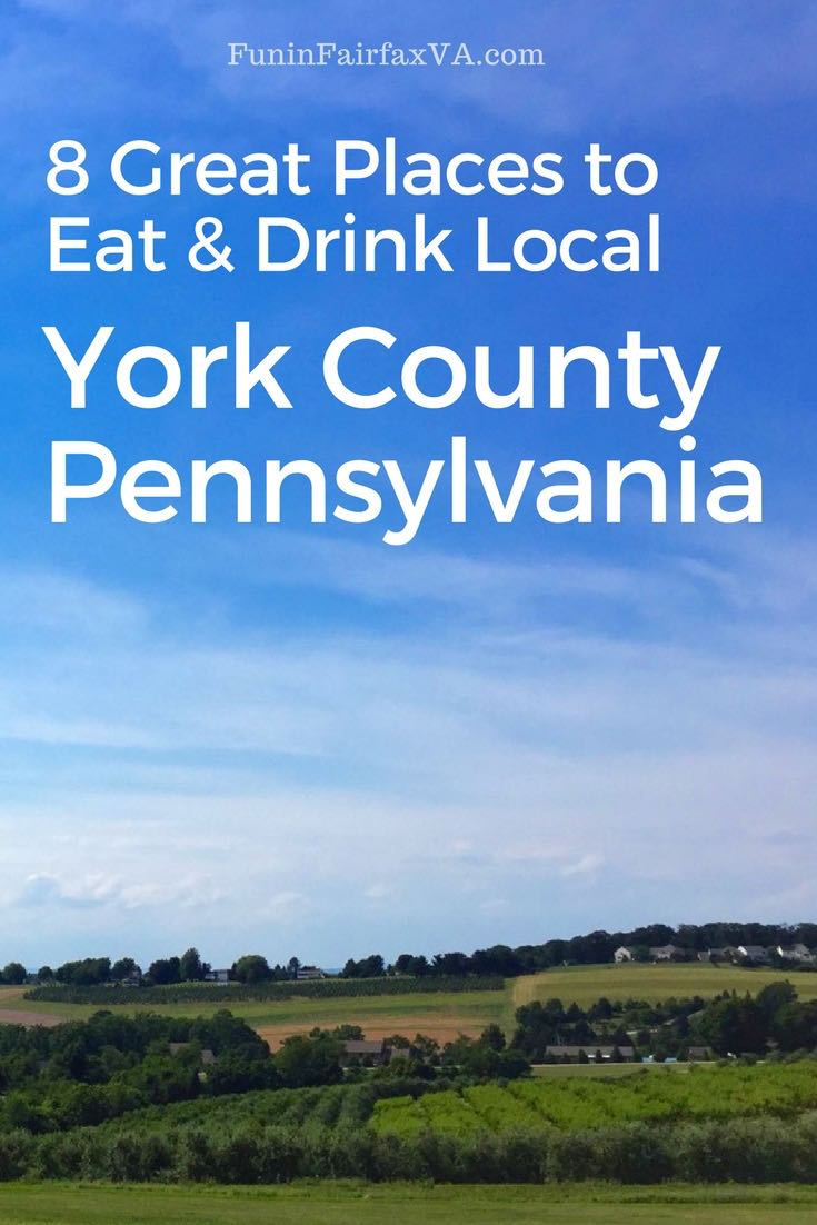 Pennsylvania travel dining drink, York County Pennsylvania is home to farm-fresh dining, unique factory tours, craft breweries, and local distilleries amid rolling farms and historic towns.