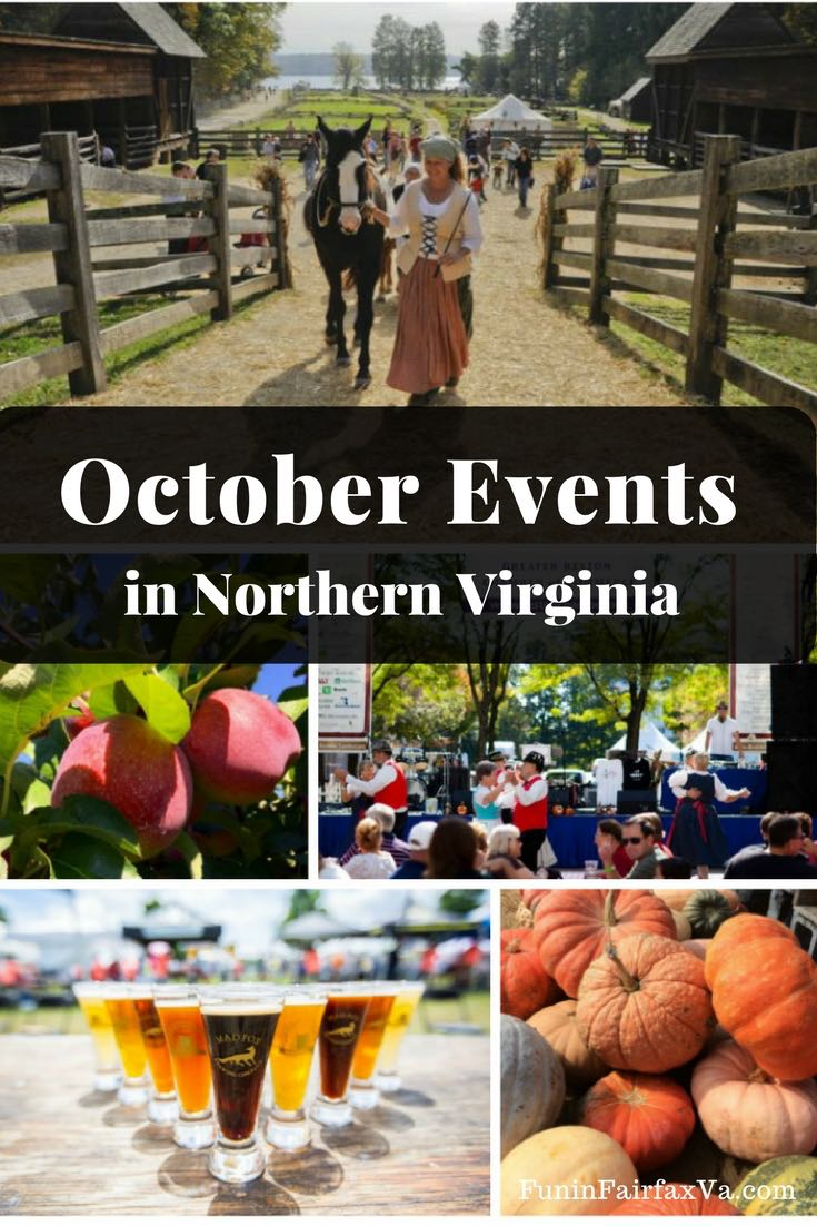 Virginia Events Travel | October 2017 events bring Oktoberfests, pumpkin patches, art, wine, and craft festivals, and more fall fun back to the Northern Virginia region.