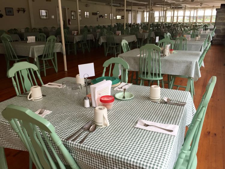 Dining room at Capon Springs $ Farms in Hampshire County WV