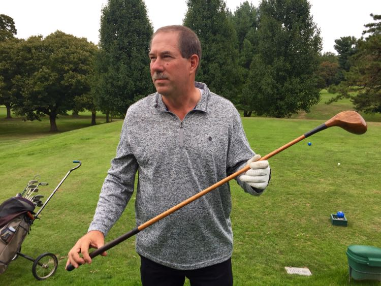 Learning Hickory Golf tips from the pro at Capon Springs Resort on a Hampshire County getaway