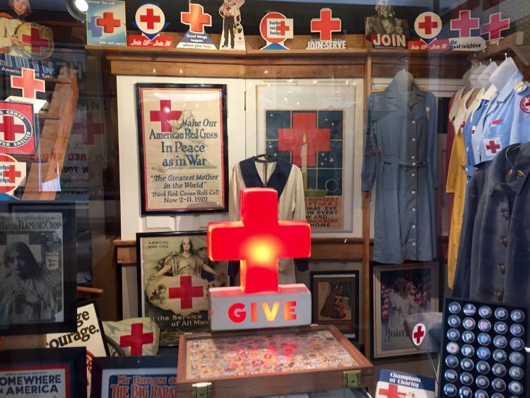 Red Cross display at Edinburg Mill Museum Shenandoah Valley VA