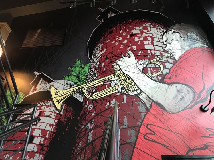 Miles Davis mural in the Pour House