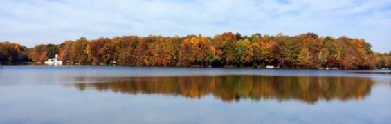 Lake Thoreau fall foliage Reston Virginia