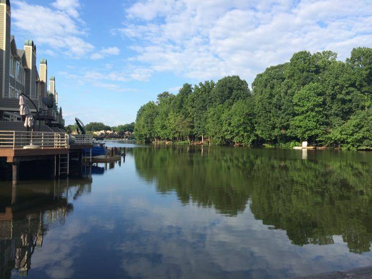 Lake Thoreau northern end view Reston VA
