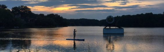 SUP sunset Lake Thoreau Reston
