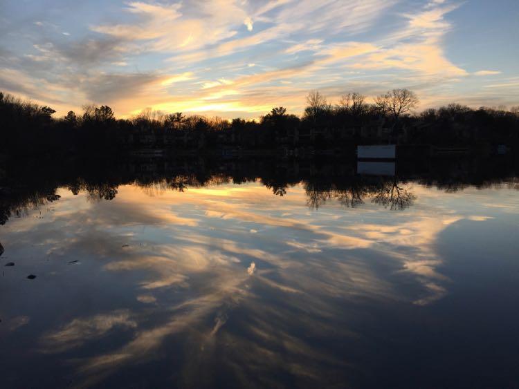 Sunset over Lake Thoreau Reston Virginia