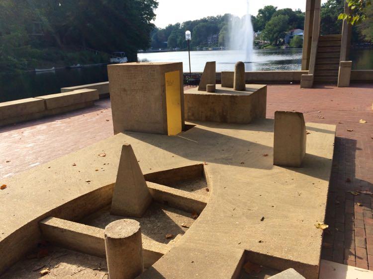 The Sun Boat sculpture Lake Anne Reston VA
