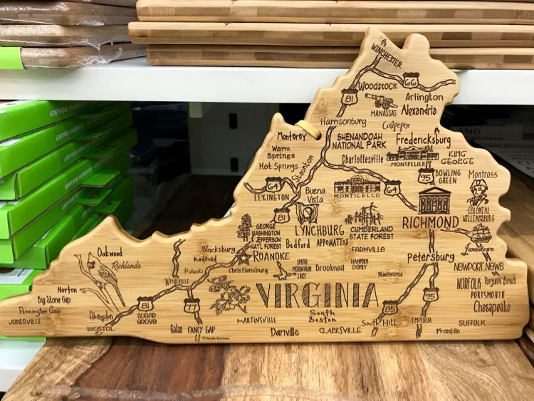Virginia Cutting Board