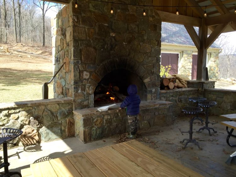 Dirt Farm Brewing fireplace