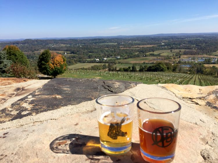 Dirt Farm Brewing fall view of the Virginia Peidmont