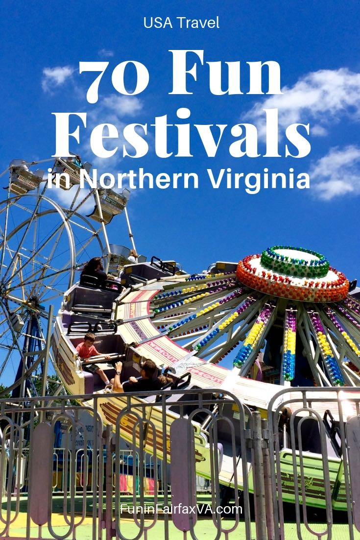 70 fun festivals in Northern Virginia, near Washington DC, to celebrate every season with parades, fairs, and special events.