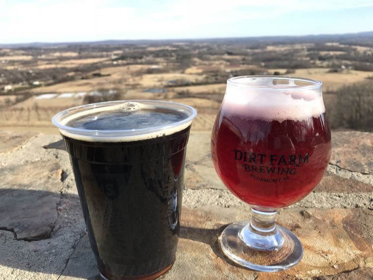 Stout and Cherry Ale at Dirt Farm Brewing