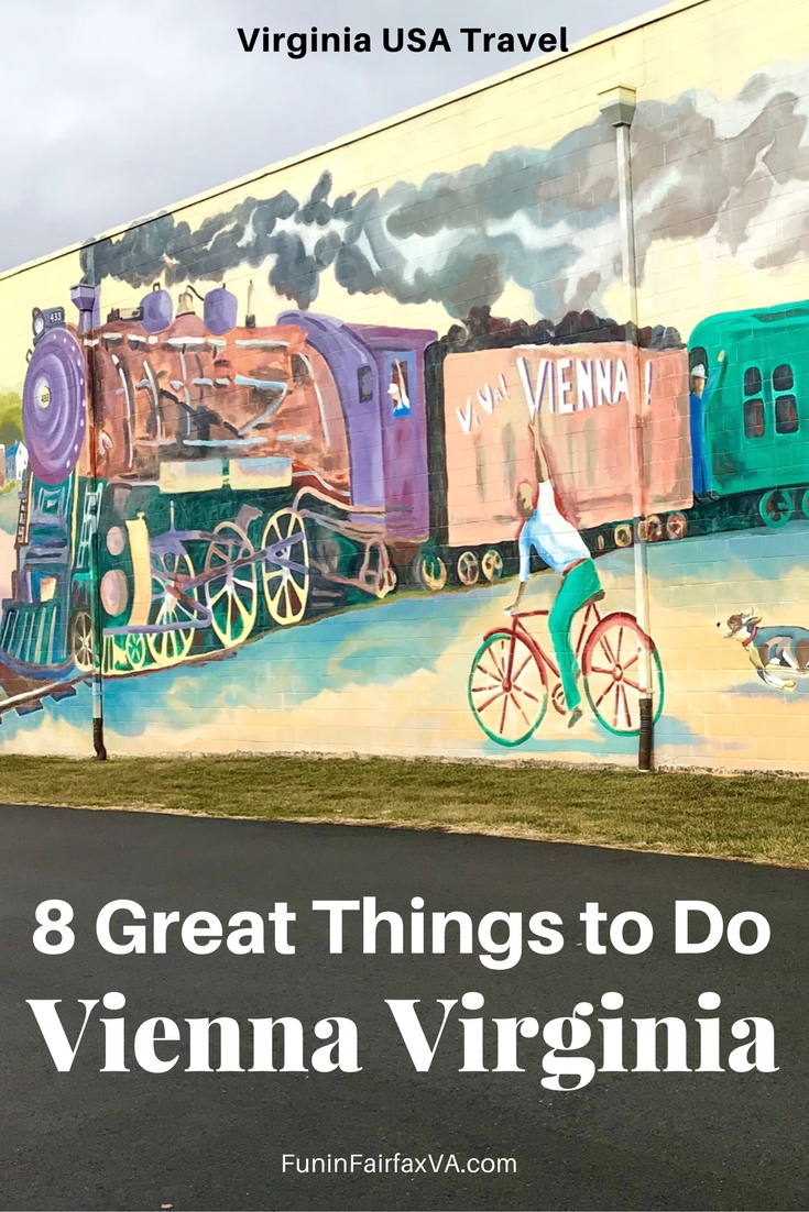 Virginia US travel. Washington DC region. Our favorite things to do in Vienna Virginia combine small town fun with nature, music, craft beer, local dining, and interesting history.