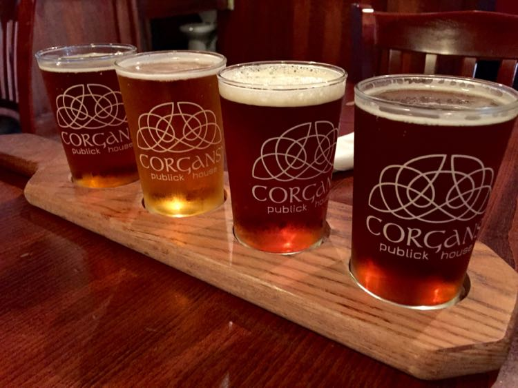 Corgans beer flight Harrisonburg VA