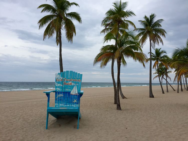 Fort Lauderdale Beach in Florida makes an ideal winter getaway from Northern Virginia and DC