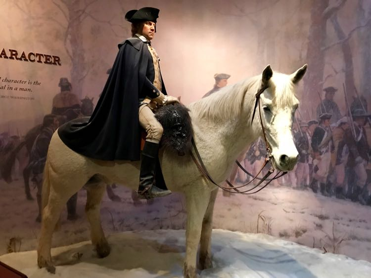 George Washington on Blue Mount Vernon