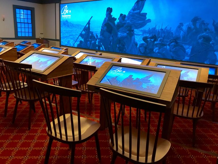 Interactive desks: Be Washington at Mount Vernon