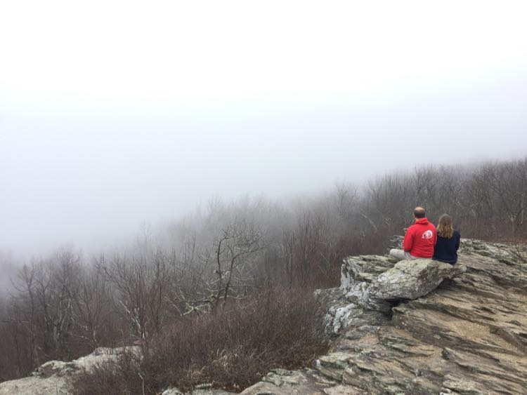 Loft Mountain fog Shenandoah NP