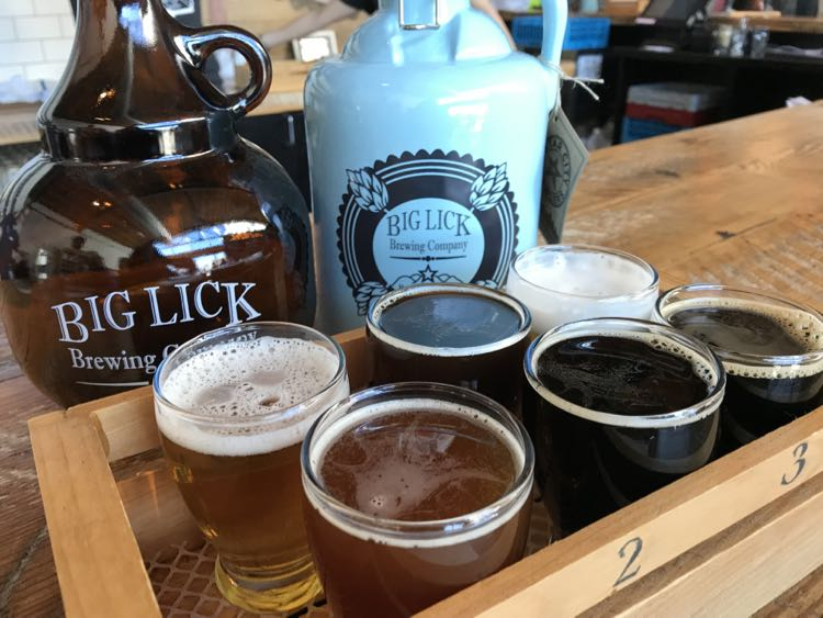 Big Lick Brewing flight Virginias Blue Ridge Beerway