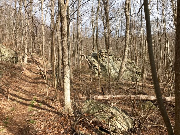 Boulders on Big Devils Stairs hike Shenandoah Virginia