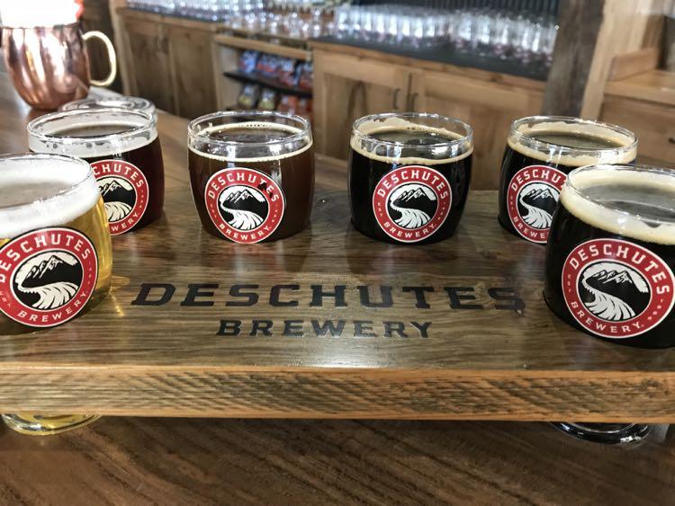 Deschutes flight Viirginia's Blue Ridge Beerway