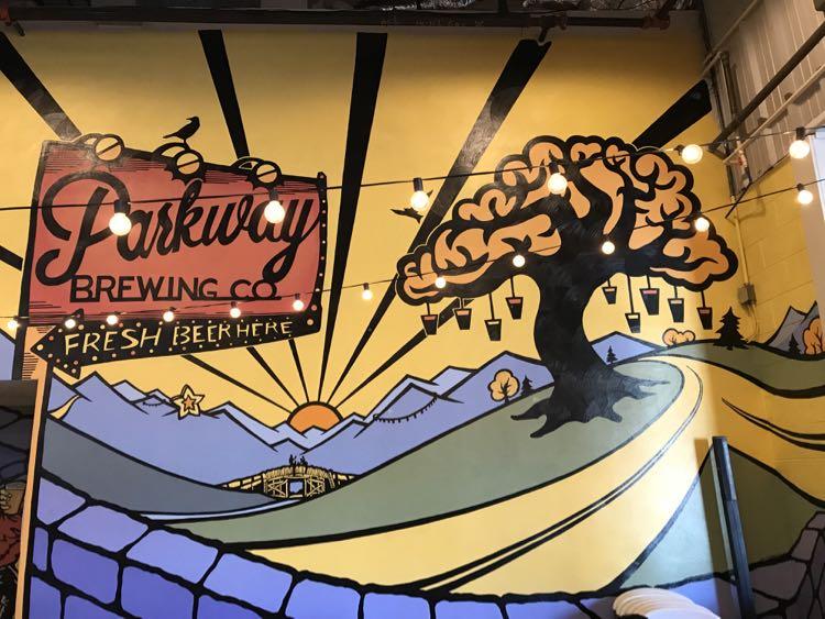 Parkway Brewing mural Virginias Blue Ridge Beerway