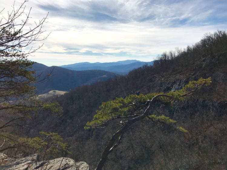 View from Big Devil Stairs hike Shenandoah Virginia