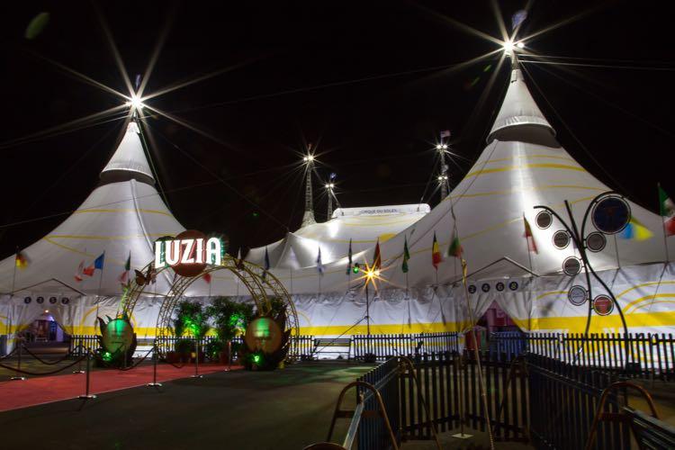 Cirque du Soleil LUZIA in Tysons Virginia tents