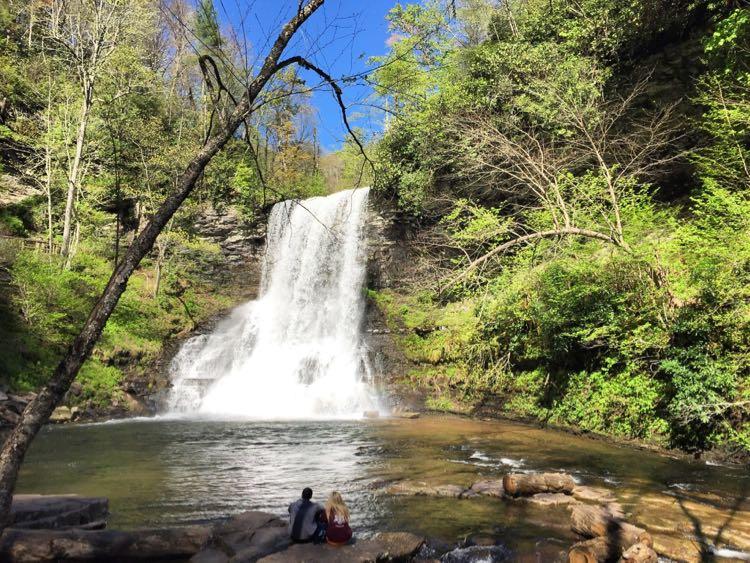 Cascade Falls waterfall hike in Virginia's Blue Ridge