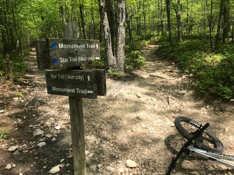 Mill Mountain biking trails Roanoke VA