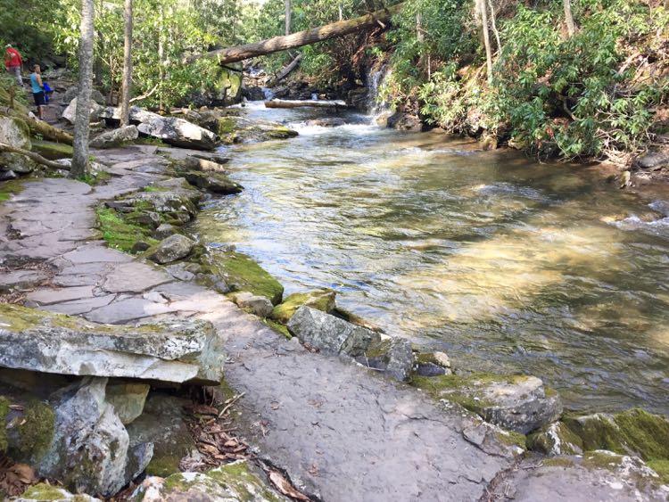 Trail to Cascade Falls, waterfall hikes in Virginia's Blue Ridge