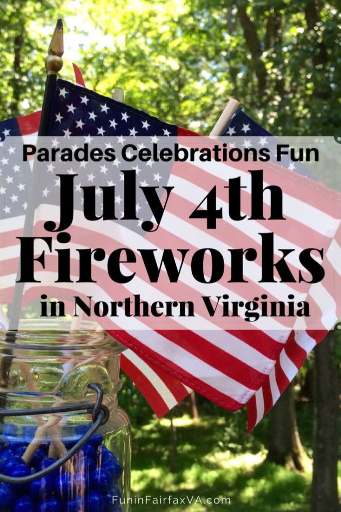 Virginia USA events. July 4th fireworks in Northern Virginia plus patriotic parades and celebrations in the Washington DC area.