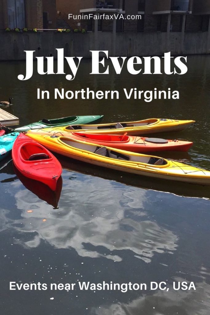 Things to do Events Virginia. Guide to July events in Northern Virginia including fun celebrations with fireworks, parades, music, wine, beer, food, history, and more. #Virginia #events #WashingtonDC